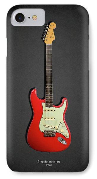 Guitar iPhone 8 Case - Fender Stratocaster 63 by Mark Rogan