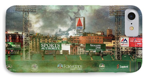 IPhone Case featuring the photograph Fenway Park Green Monster And Citgo Sign by Joann Vitali
