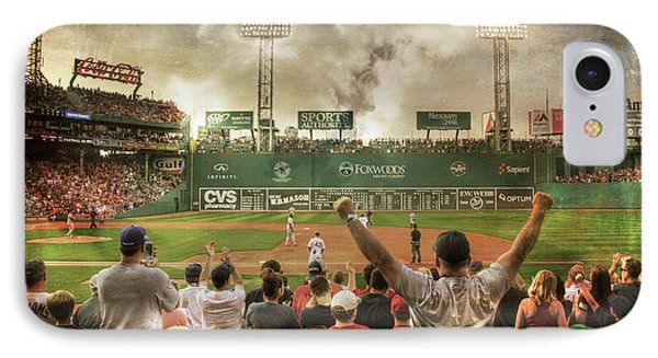IPhone Case featuring the photograph Fenway Park Green Monster by Joann Vitali