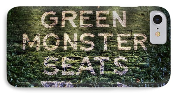 IPhone Case featuring the photograph Fenway Park Green Monster Seats by Joann Vitali