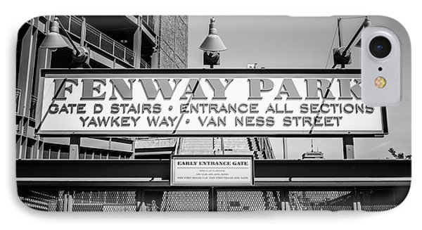 Fenway Park Sign Black And White Photo IPhone Case