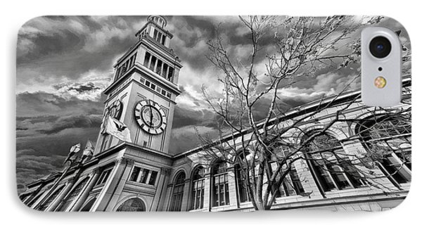 Ferry Building Black  White IPhone Case
