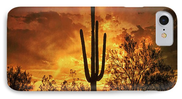 IPhone Case featuring the photograph Fiery Desert Skies Square  by Saija Lehtonen