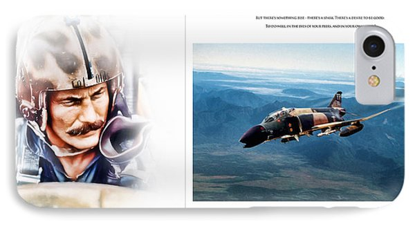 Tribute iPhone 8 Case - Robin Olds Fighter Pilot by Peter Chilelli