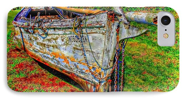Final Resting Place  Abandoned Fishing Boat IPhone Case