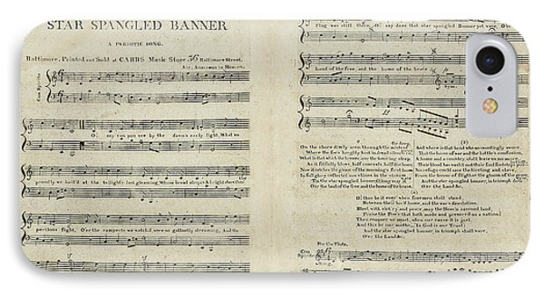 First Edition Of The Sheet Music For The American National Anthem IPhone Case