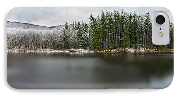First Snow At Lake Nawahunta IPhone Case