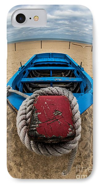Little Blue Fishing Boat IPhone Case