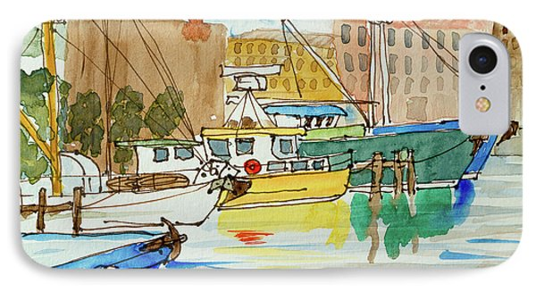 Fishing Boats In Hobart's Victoria Dock IPhone Case