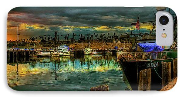 Fishing Harbor At Sunset IPhone Case