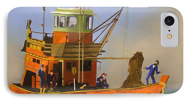 Fishing In Orange IPhone Case