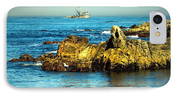 Fishing Monterey Bay Ca IPhone Case