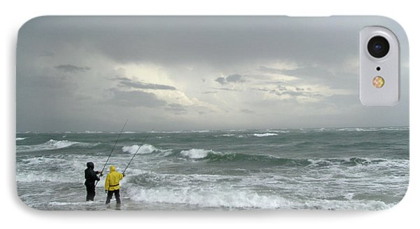 iPhone 8 Case - Fishing Through The Storm - Diamond Shoals Nc by Mother Nature