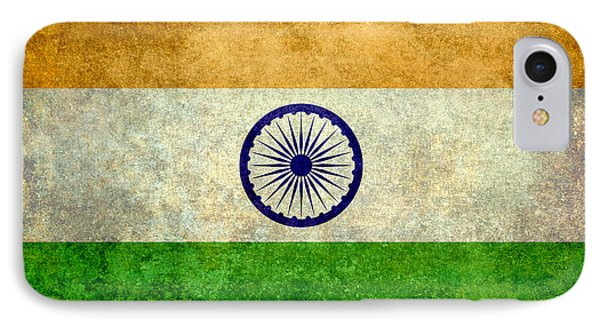 Flag Of India Vintage 18x24 Crop Version IPhone Case