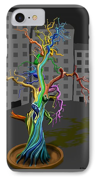Flaming Tree IPhone Case