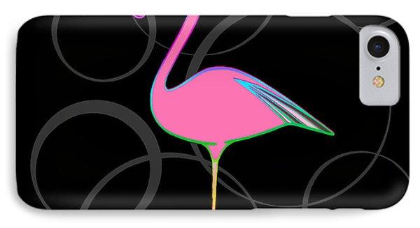 Flamingo Bubbles No 1 IPhone Case