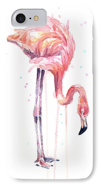 Flamingo Painting Watercolor IPhone Case