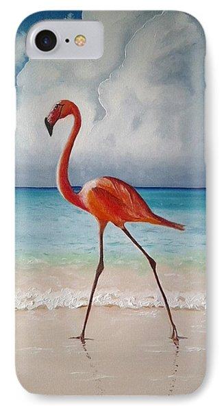 Flamingo Walk IPhone Case