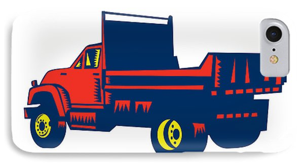 Flatbed Truck Woodcut IPhone Case
