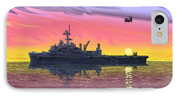 Flight Ops At Sunset IPhone Case