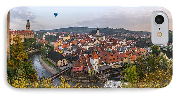 Flight Over The Medieval Town IPhone Case
