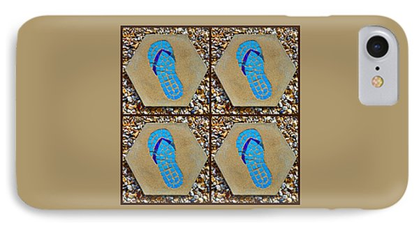 Flip Flop Square Collage IPhone Case