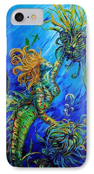 Floating Blond Mermaid IPhone Case