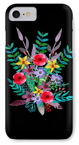 Flowers iPhone 8 Case - Just Flora by Amanda Lakey