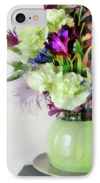 Floral Bouquet In Green IPhone Case