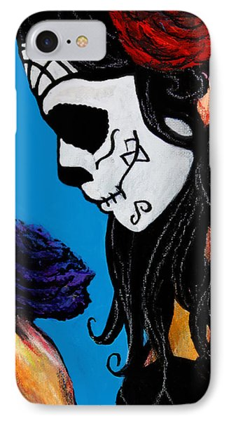 Flower And Skull IPhone Case