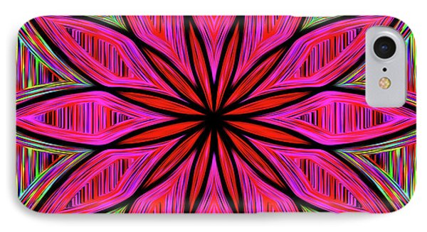 IPhone Case featuring the photograph Flower On Rainbow Mandala By Kaye Menner by Kaye Menner
