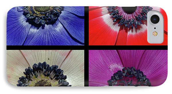 Flower Square Montage - Anemone IPhone Case
