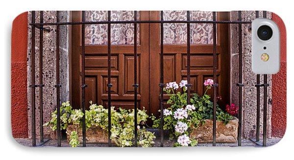 Flowers In Window Box San Miguel De Allende IPhone Case