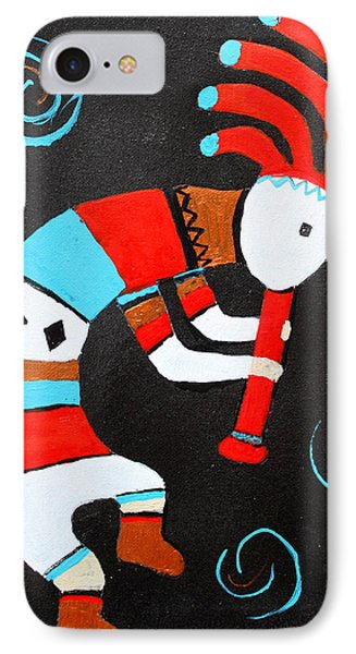 Flute Player IPhone Case