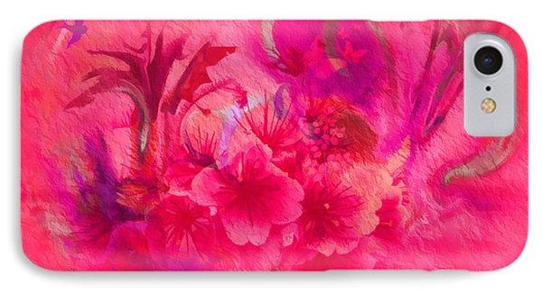 Flower Art Pinky Pink  IPhone Case