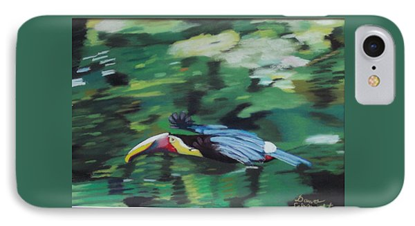 Flying Toucan In Costa Rica IPhone Case