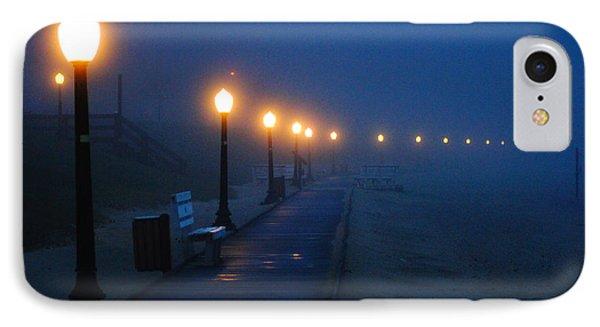 Foggy Boardwalk Blues IPhone Case