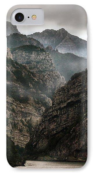 Foggy Mountains Over Neretva Gorge IPhone Case