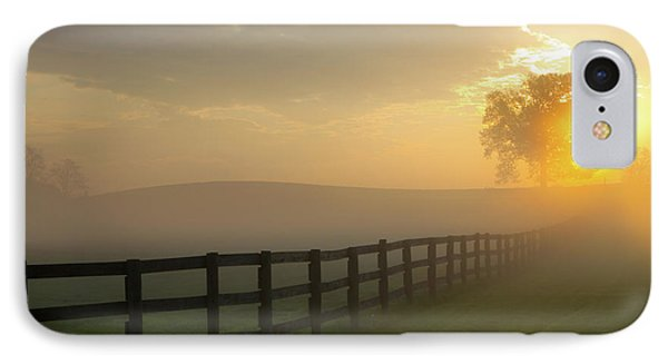 Foggy Pasture Sunrise IPhone Case