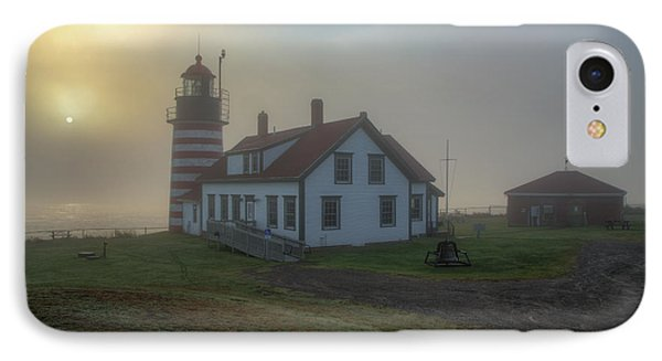 Foggy Sunrise At Quoddy Head IPhone Case