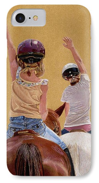 Follow The Leader - Horseback Riding Lesson Painting IPhone Case