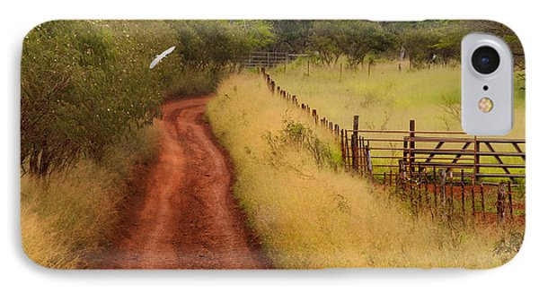 Follow The Red Dirt Road IPhone Case