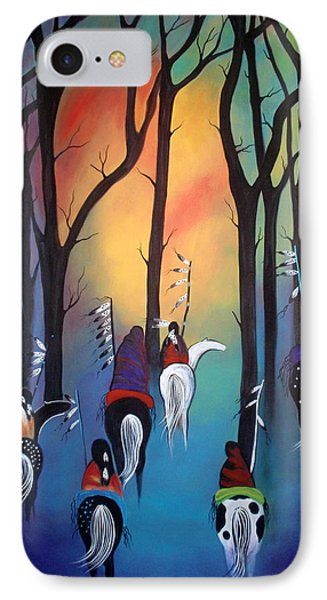 Following The Trail Of The Ancestors IPhone Case