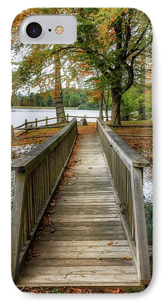 Foot Bridge At Linville Land Harbor IPhone Case