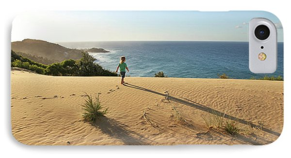 Footprints In The Sand Dunes IPhone Case