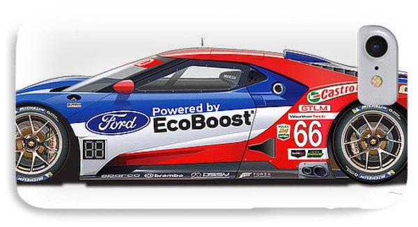 Ford Gt Le Mans Illustration IPhone Case