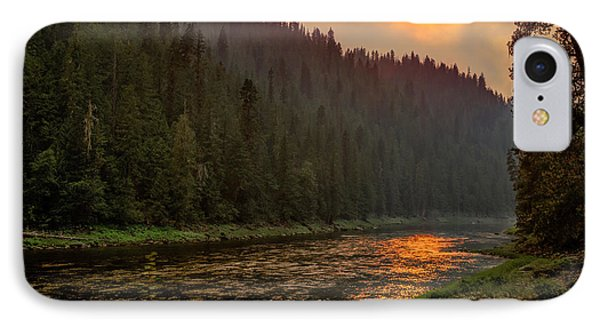 Forest Fire Sunset IPhone Case