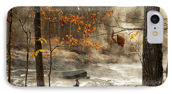 Fork River In Fall IPhone Case