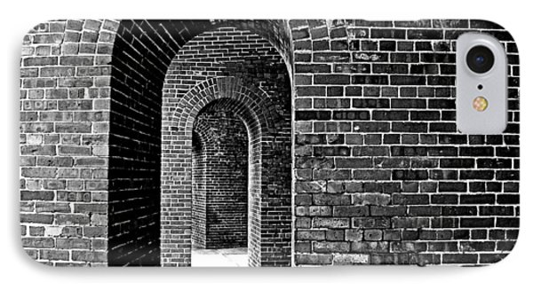 Fort Arches In Black And White IPhone Case