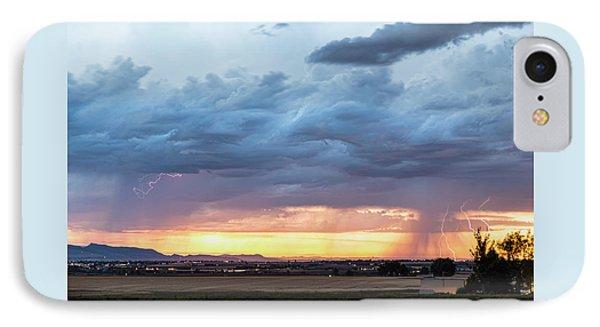 Fort Collins Colorado Sunset Lightning Storm IPhone Case